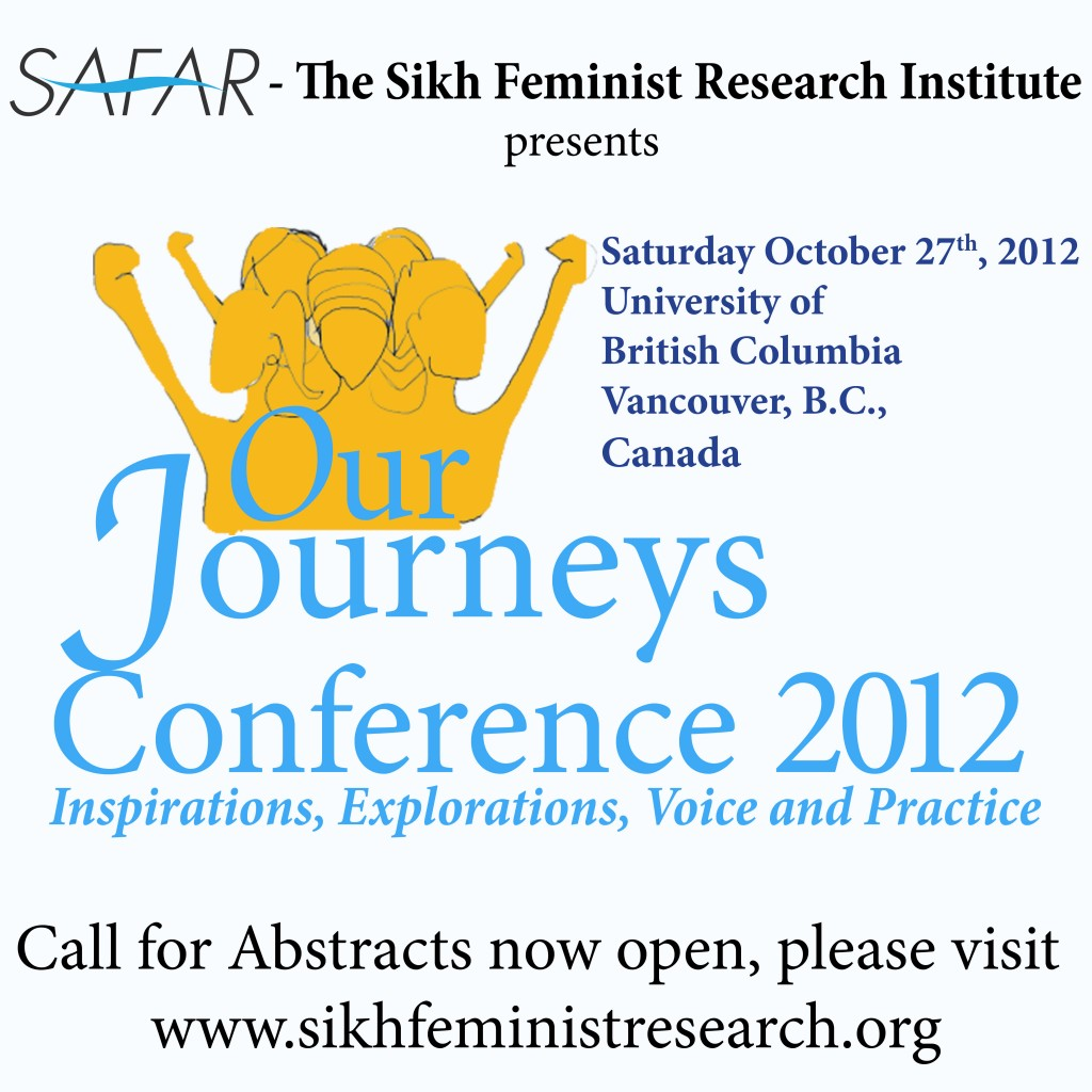 Our Journeys Conference 2012: On-line submissions open!